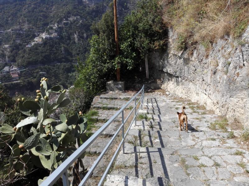Die 500 Stufen runter nach Positano