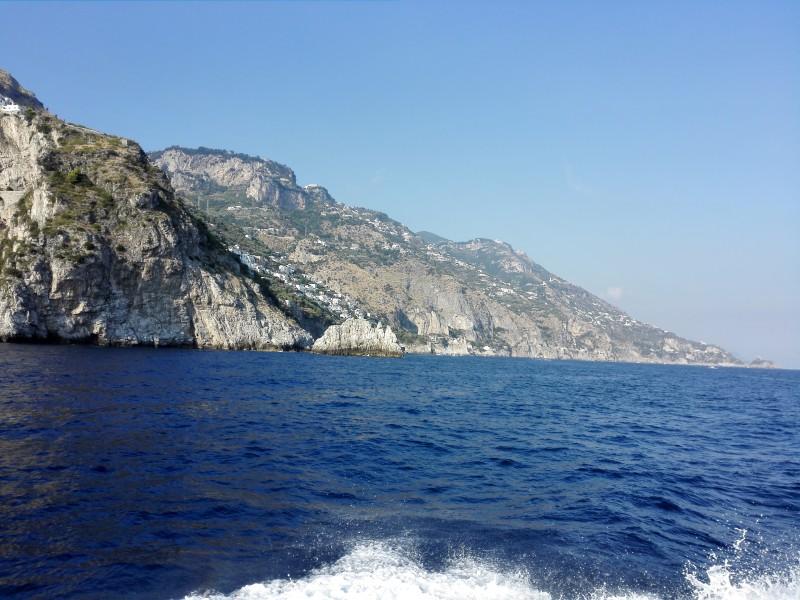 Wir nähern uns Amalfi