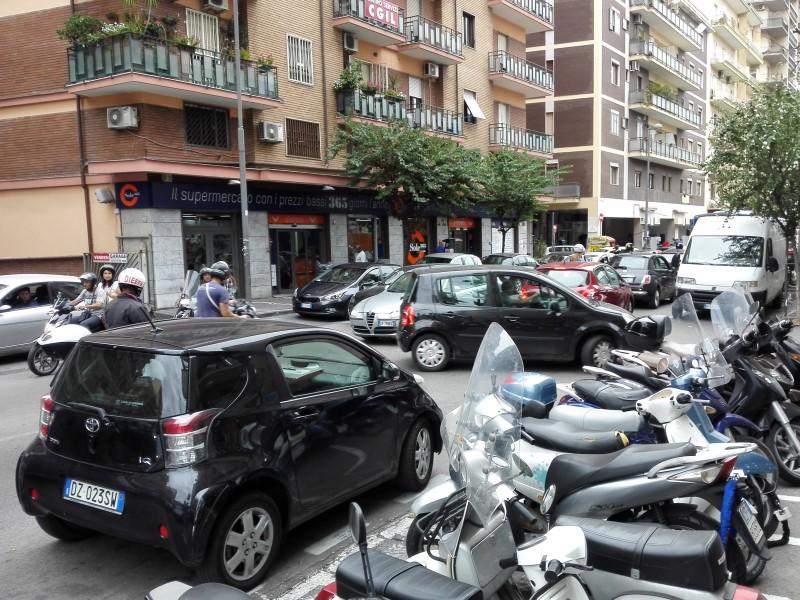 Das übliche Verkehrschaos